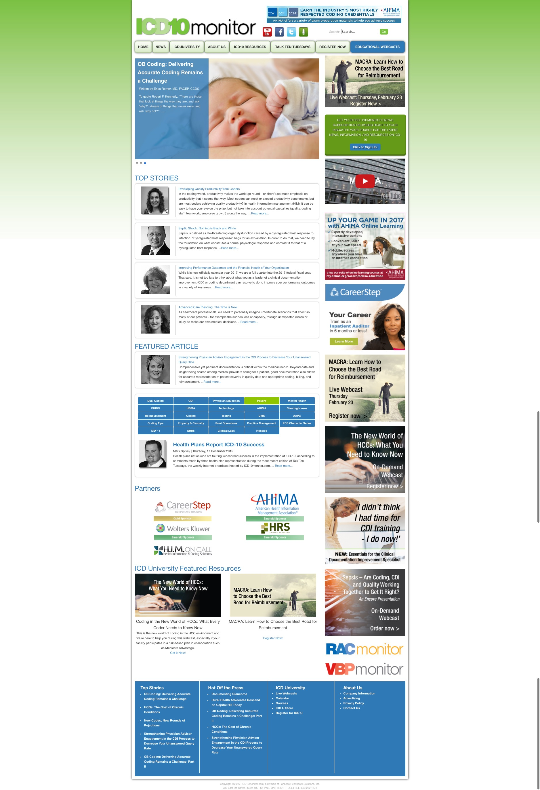 ICD10monitor.com News and Information Services for Successful ICD 10 Implementation